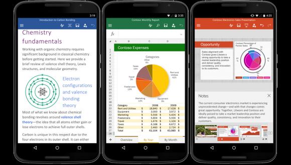 Android için Yeni Office Uygulamaları Yayınlandı!