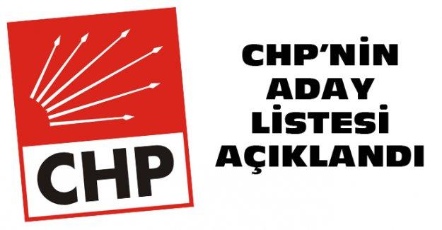 CHP'NİN KESİN ADAY LİSTESİ BELLİ OLDU