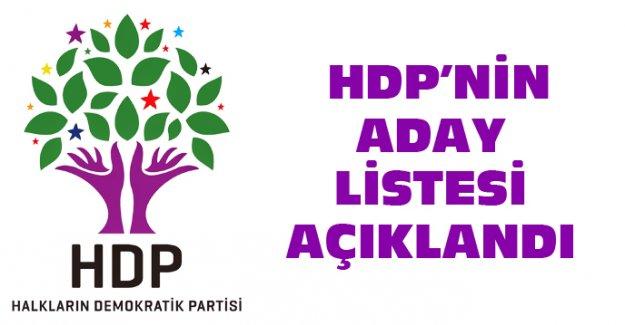 HDP'NİN ADAY LİSTESİ AÇIKLANDI