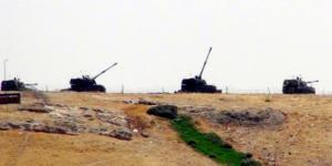 Birecik te Tank ve obüslerin namluları Cerablus'a çevrildi