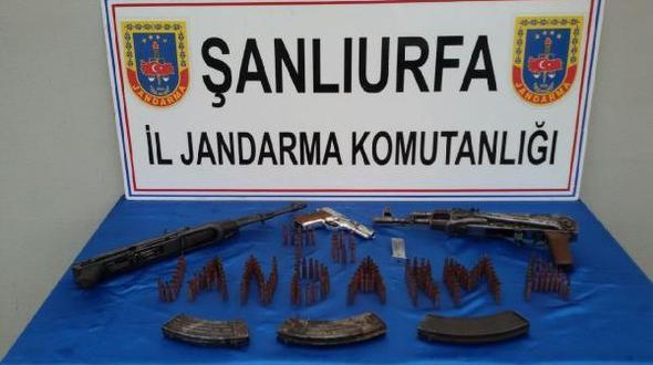 Birecik'te silah operasyonu: 2 gözaltı