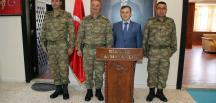 Şanlıurfa 20. Zırhlı Tugay Komutanı, Birecik Kaymakamı Perçi'yi Ziyaret Etti