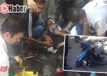 Birecik'te Motosiklet Kazası 1 Yaralı