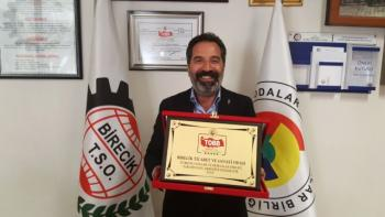 Birecik TSO TOBB Tarafından Verilen 5 Yıldızlı Oda Ödülünün Gururunu Yaşıyor.