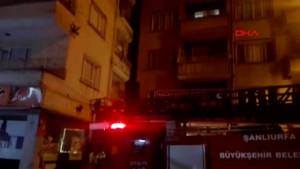 Şanlıurfa Birecik'te Yangında Mahsur Kalan Aileyi İtfaiye Kurtardı