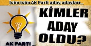 Ak Parti Aday Adayları İsim Listesi