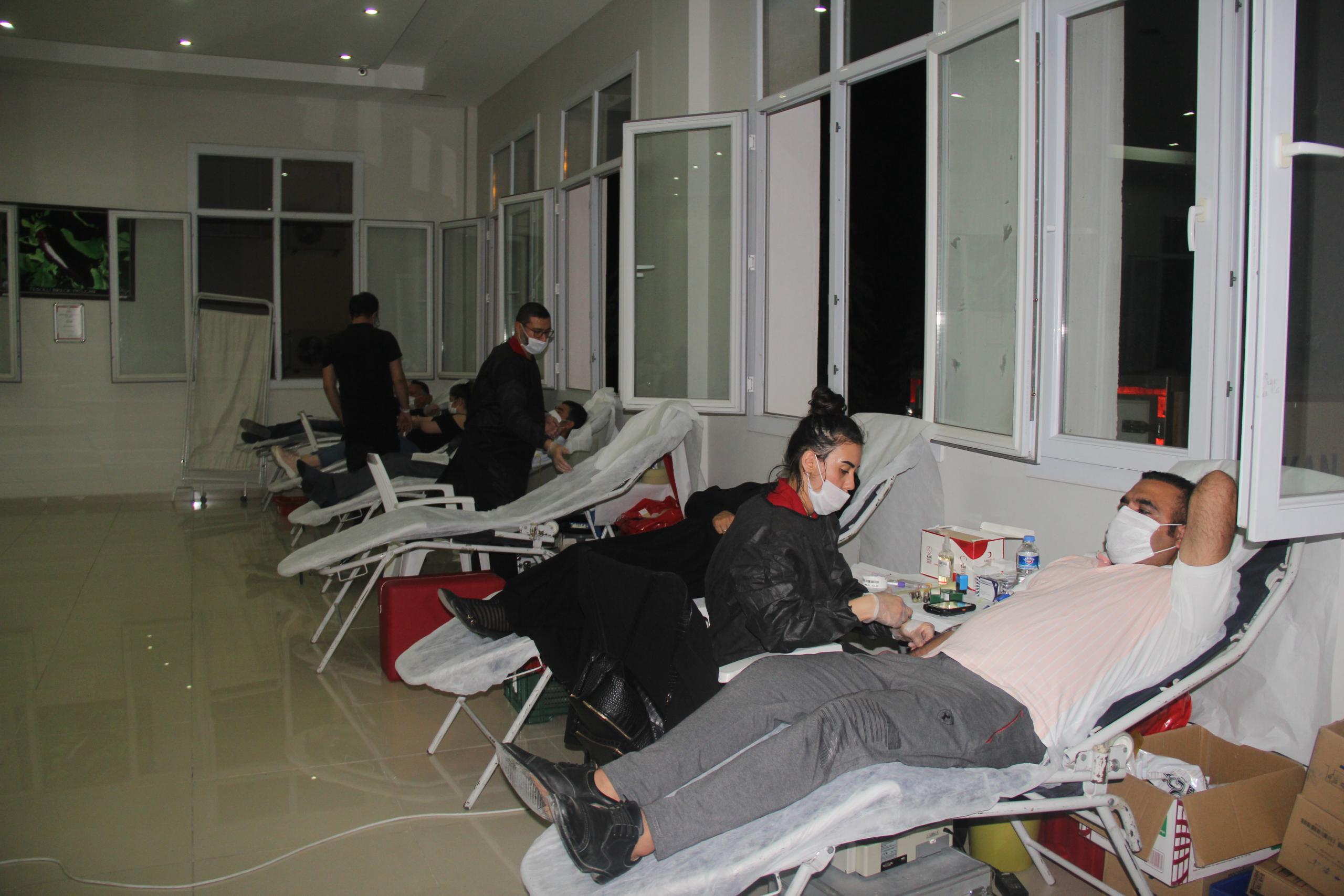 Birecik te Kan Bağışına Yoğun İlgi