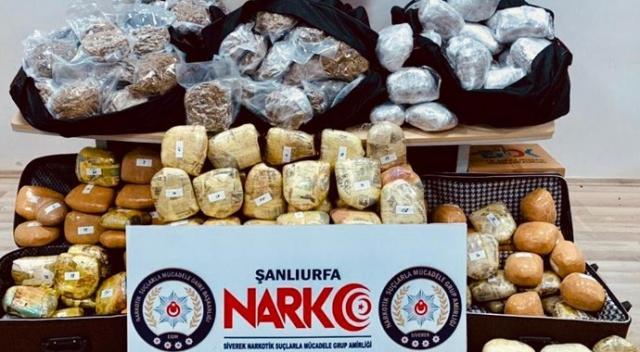 Şanlıurfa'da 202 kilogram esrar ele geçirildi