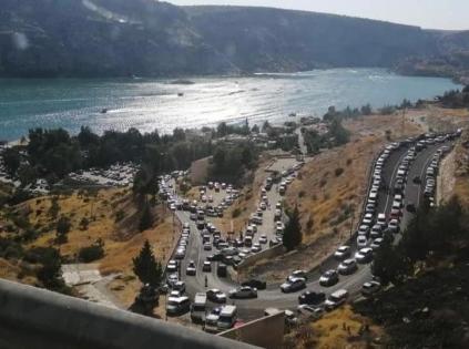 Turizm merkezi Halfeti'de bayram da ziyaretçi rekoru kırdı